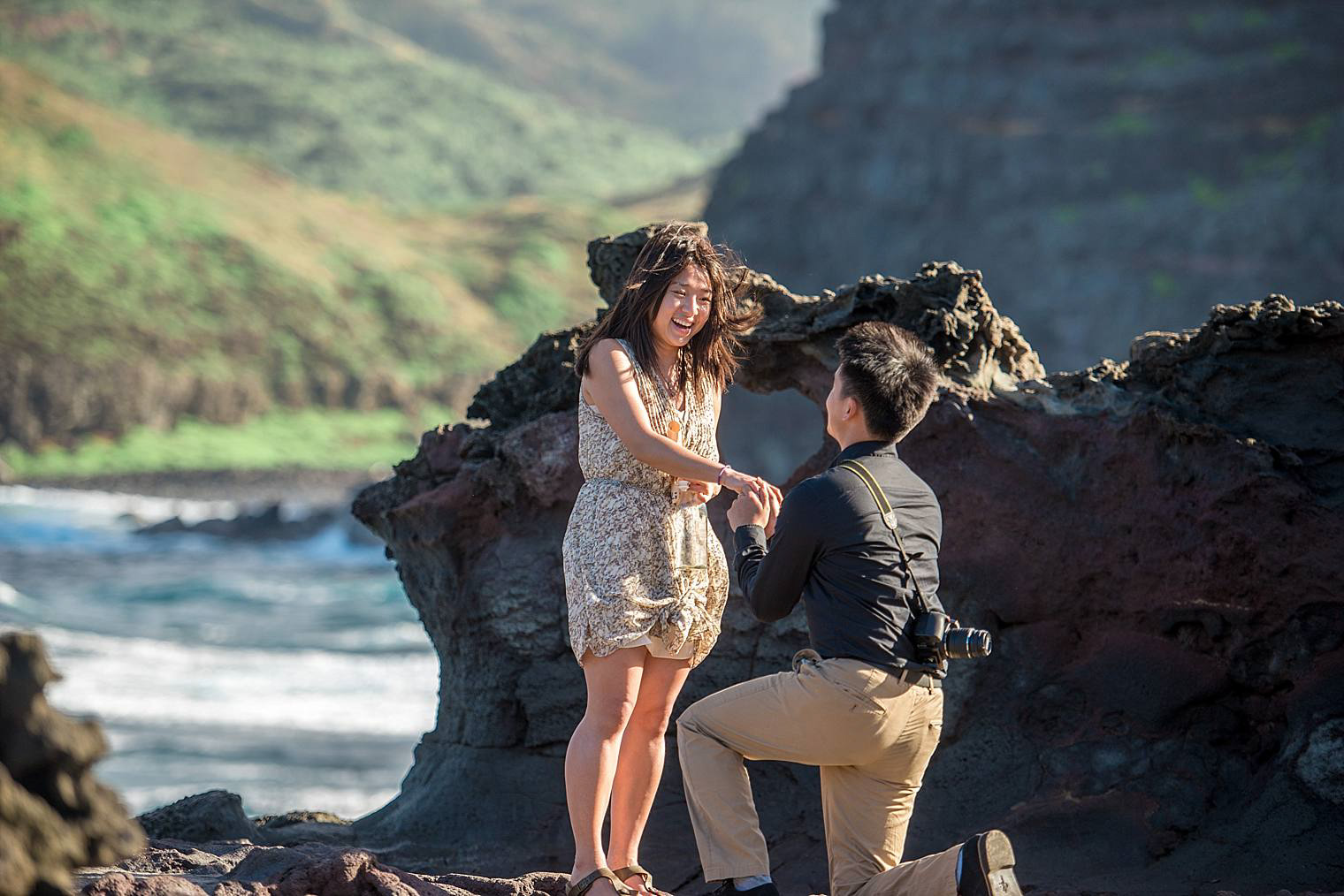 Maui Proposal at Nakalele Blowhole