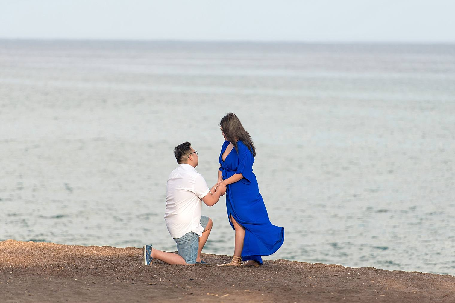 Maui Surprise Proposal Photographer - Black Sand Beach_0009