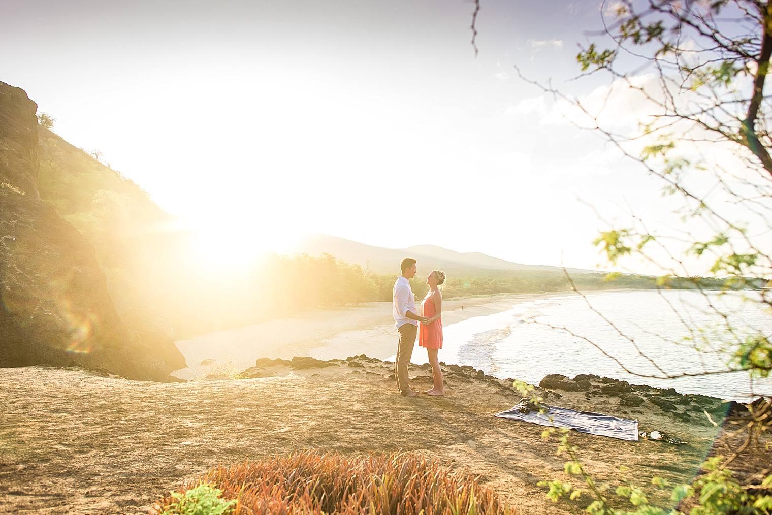 Sunrise Cliff Proposal in Maui, Hawaii_0014