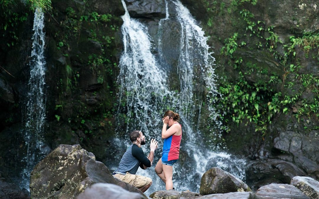 Secret Waterfall Proposal in Maui  | Rochard+Han