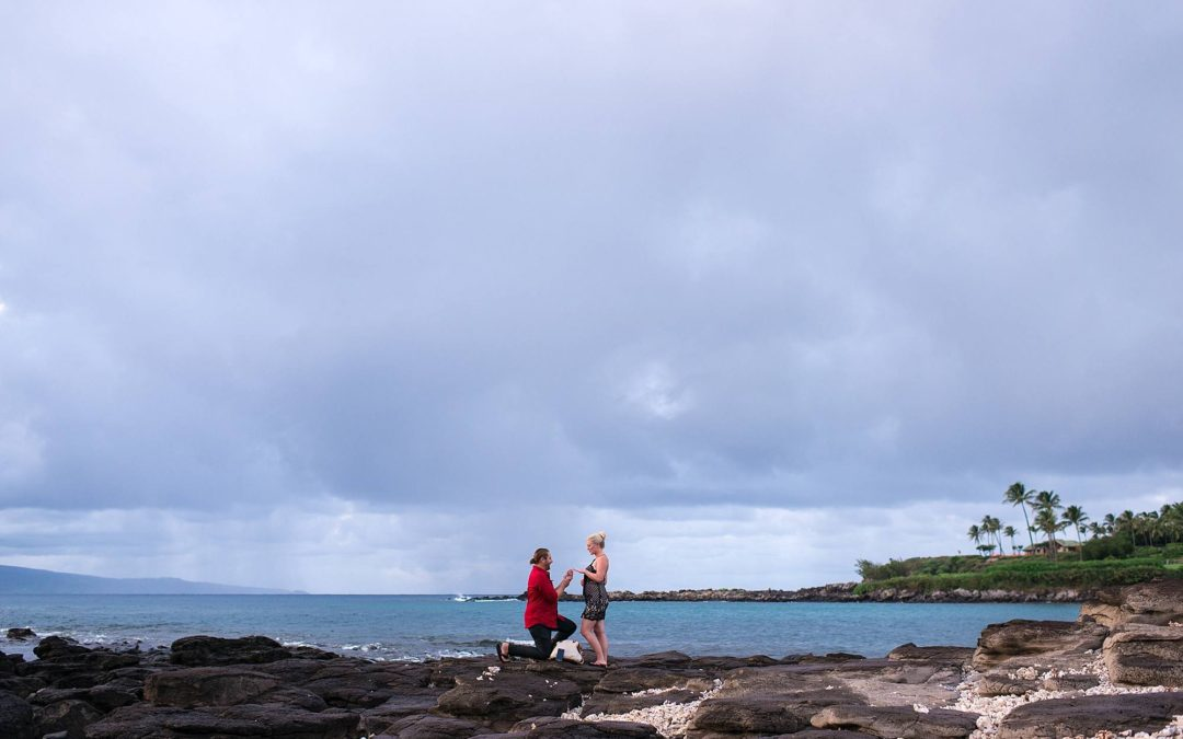 Gorgeous Kapalua Bay Proposal at Merriman's | Nate + Kim