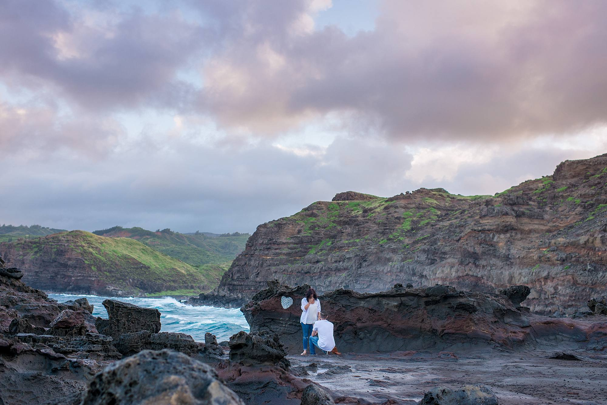 maui sunset proposal at blowhole