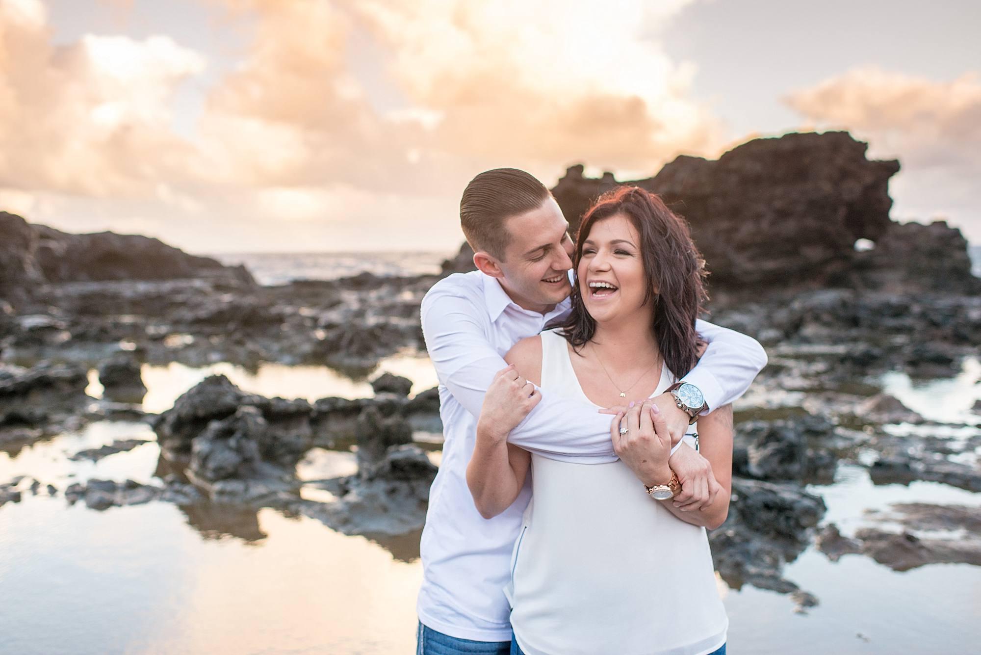 engagement photos at blowhole