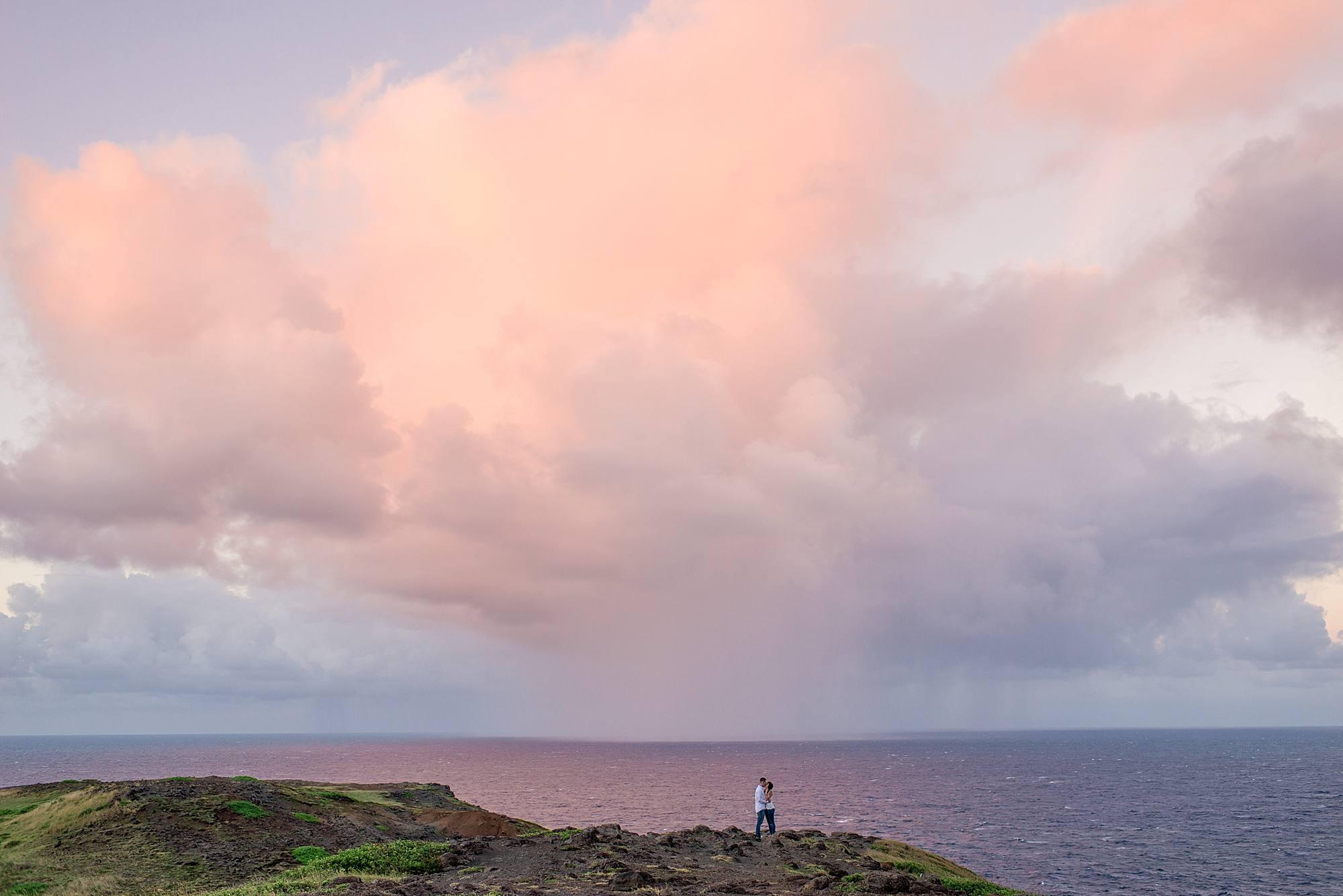 sunset in northwest maui
