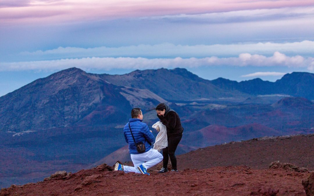 Sunset Proposal on Haleakala | Colin + Lissa