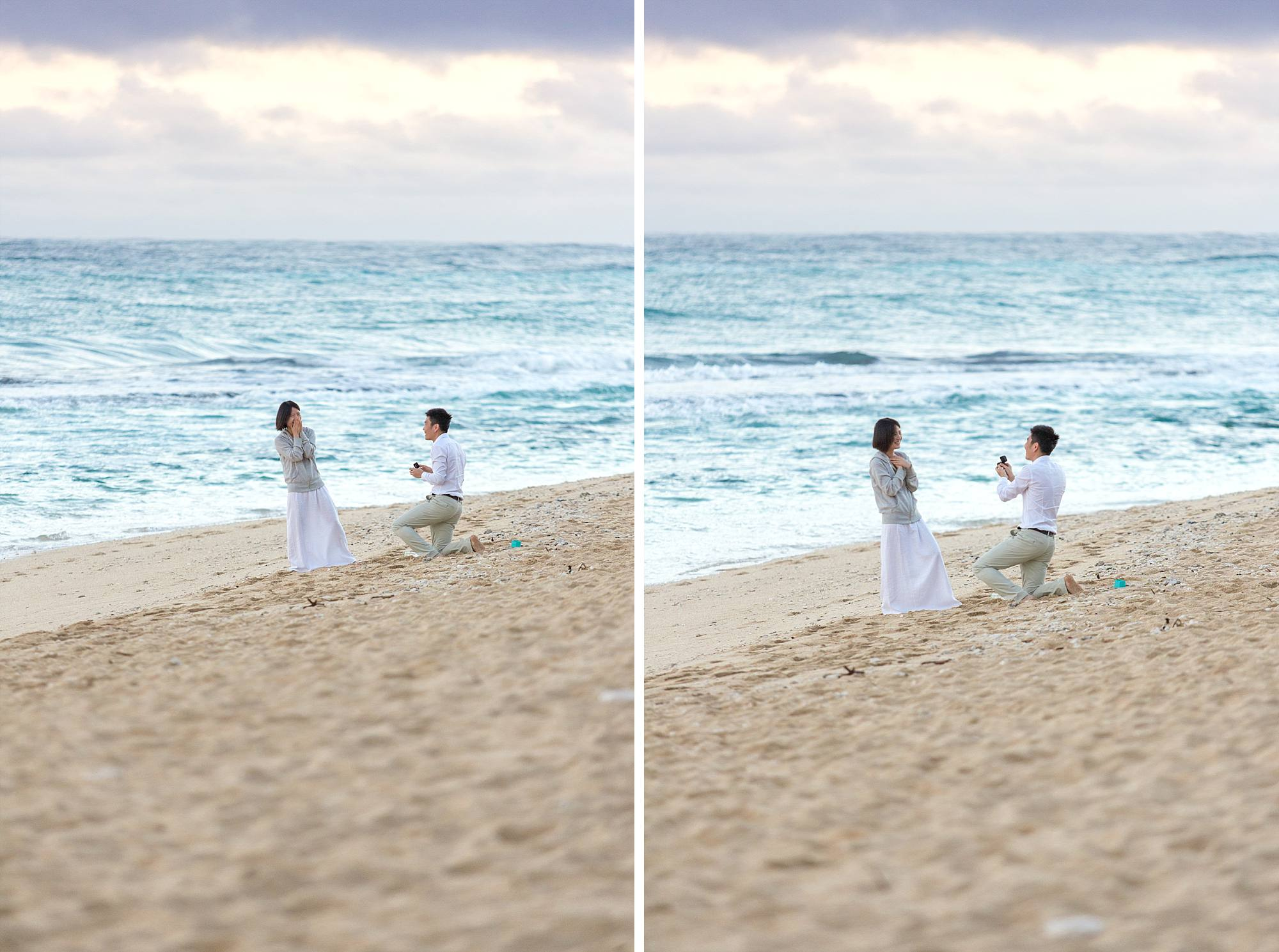proposal in action on Maui beach