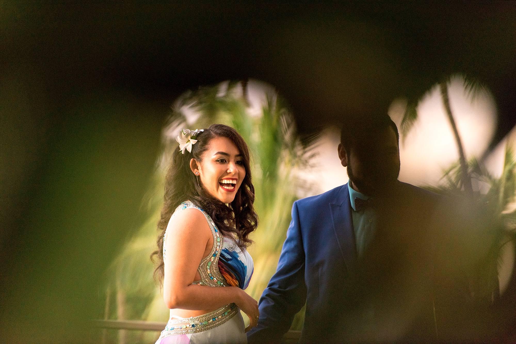 woman flashing a beautiful smile