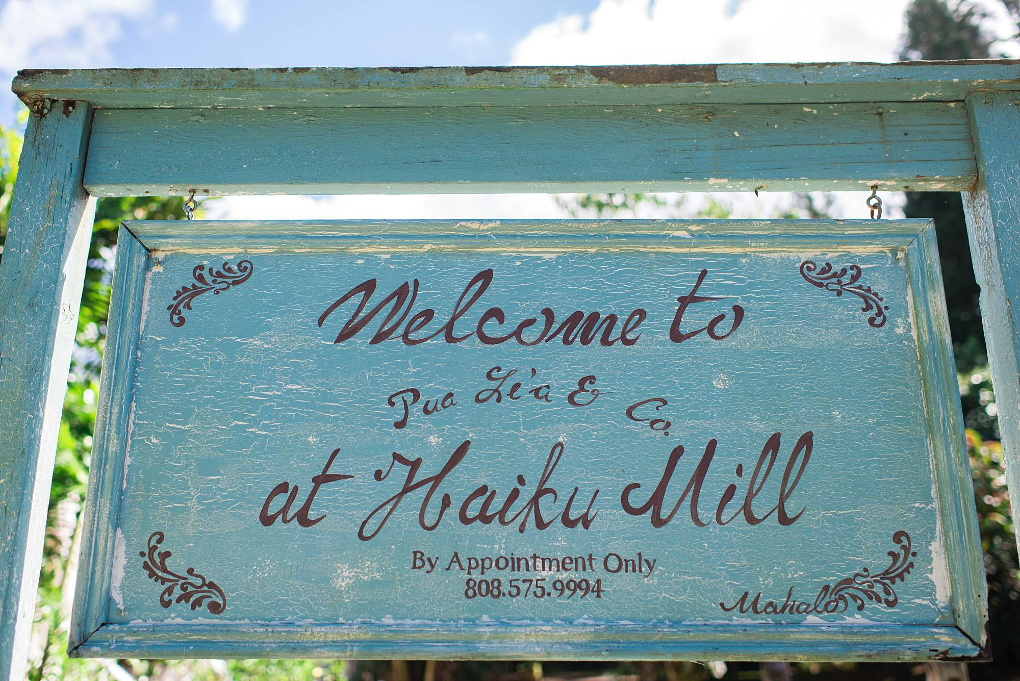 Welcome to Haiku Mill Sign