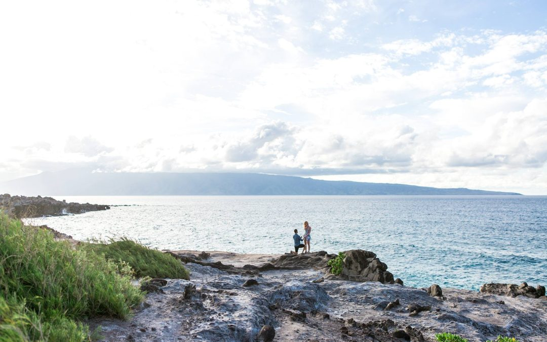 Picturesque Northwest Maui Cliff Proposal | Cameron + Evie