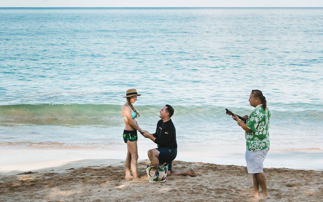 Maui Stand Up Paddle Board Proposal | Noah + Jennifer