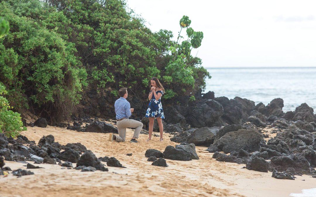 South Maui Private Beach Proposal   Chris + Bailey