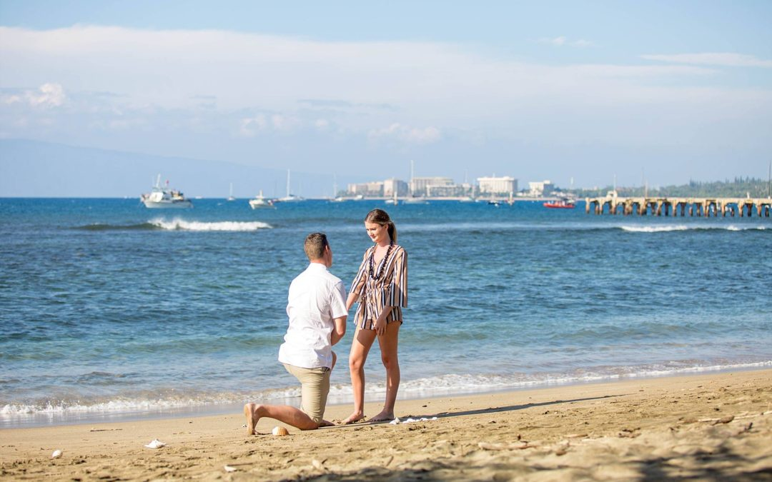 Styled Picnic Proposal in Lahaina | Gage + Veronica