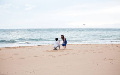 Unique Beach Proposal Using a Drone | Jonathan + Christina