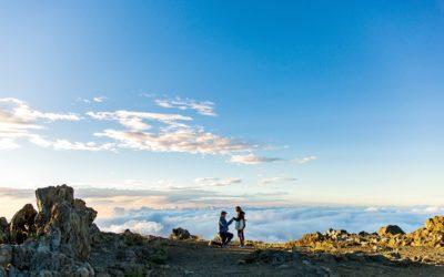 Gorgeous Haleakala Sunset Proposal | Richard + Agnes
