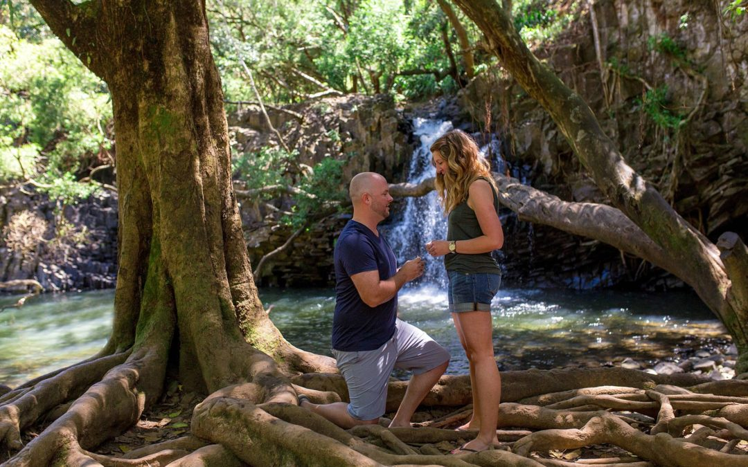 Twin Falls Maui Proposal | Andrew + Julie