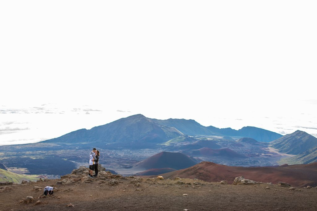 Engagement photography at Maui's Haleakala
