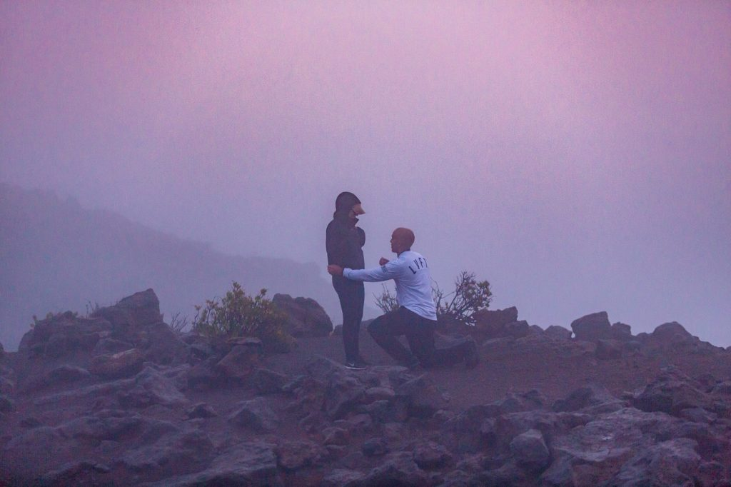 Foggy weather at Haleakala
