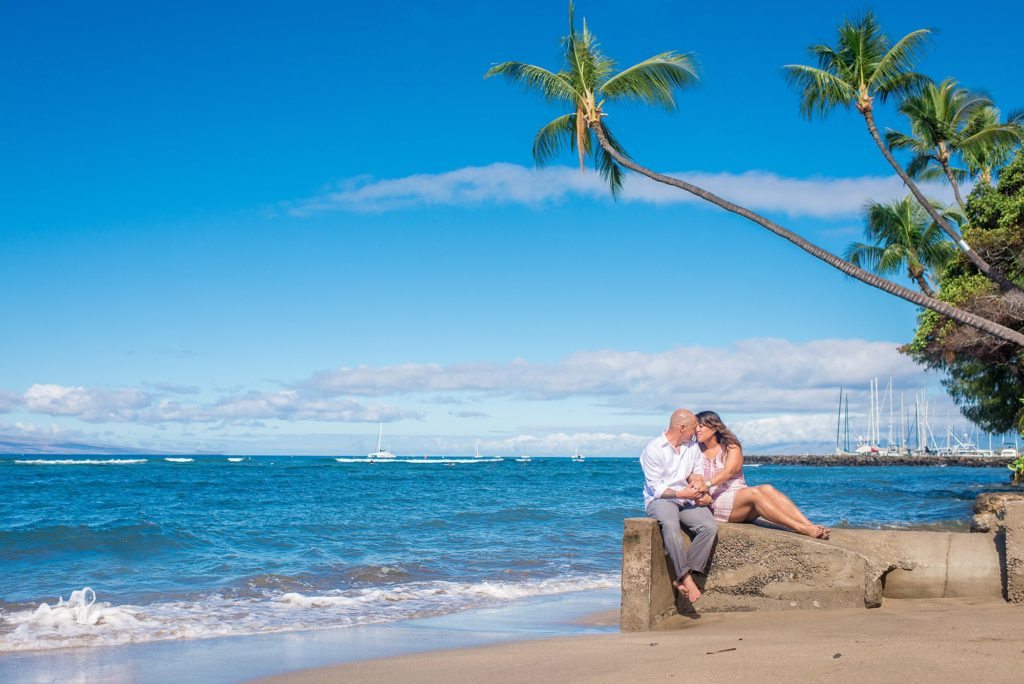 Morning engagement session at Maui beach