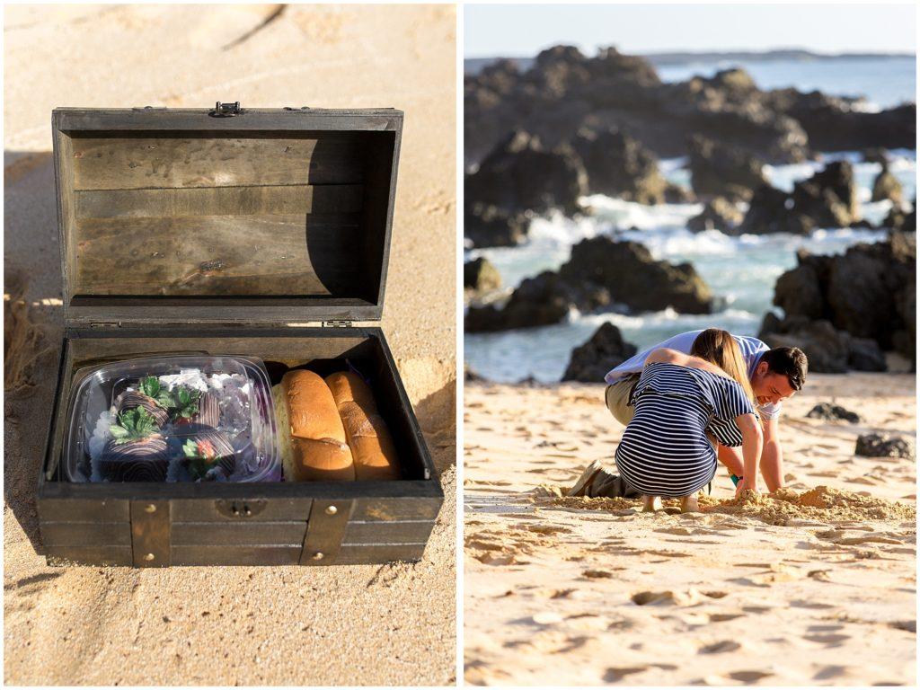 Buried treasure proposal on Maui