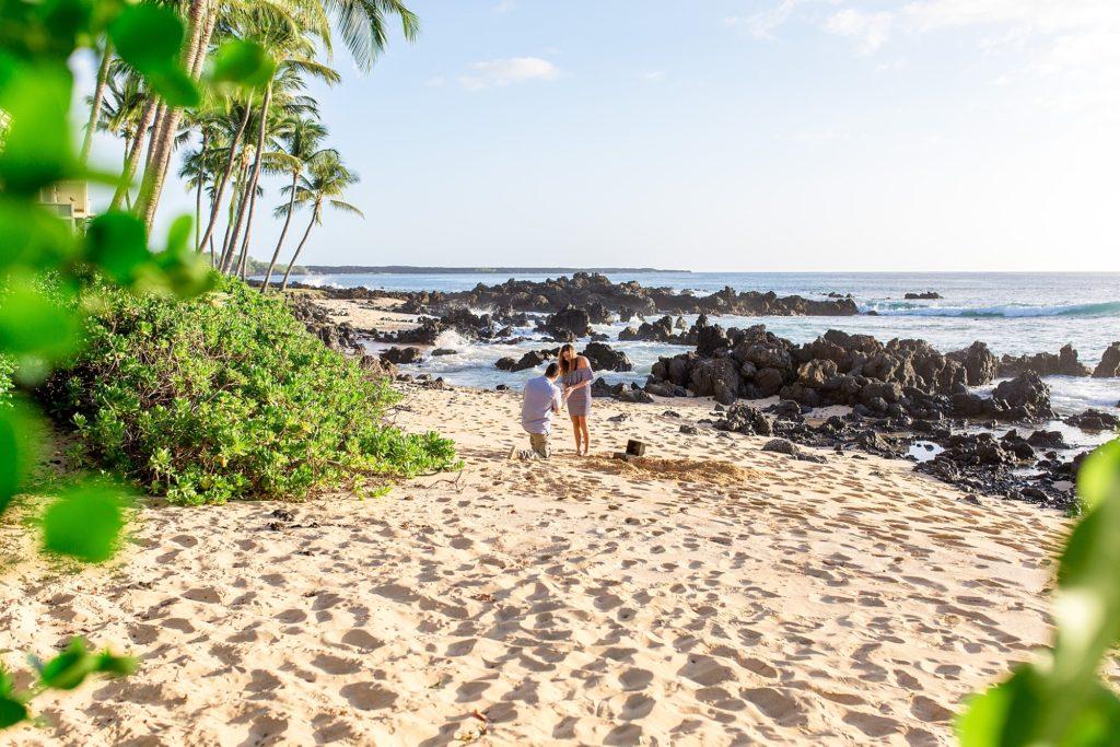 Beach proposal on Maui