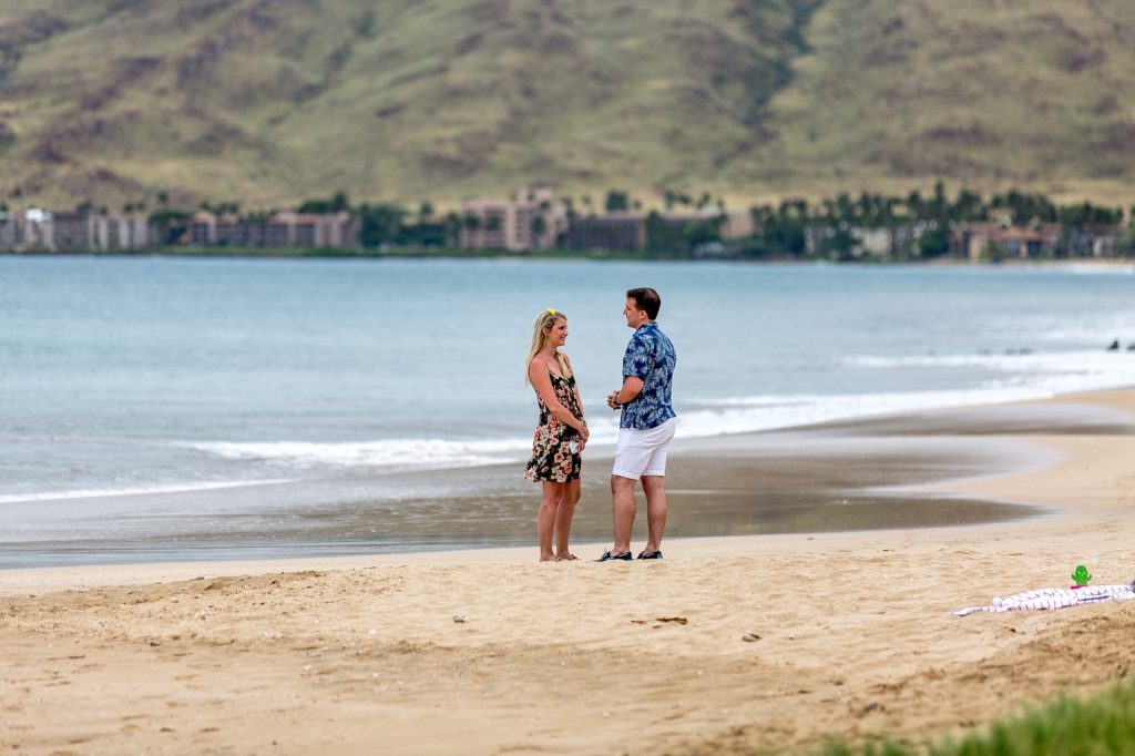 Proposal in south Maui