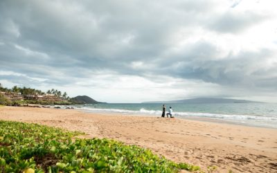 Breathtaking South Maui Sunset Proposal | Andrew + Adrienne