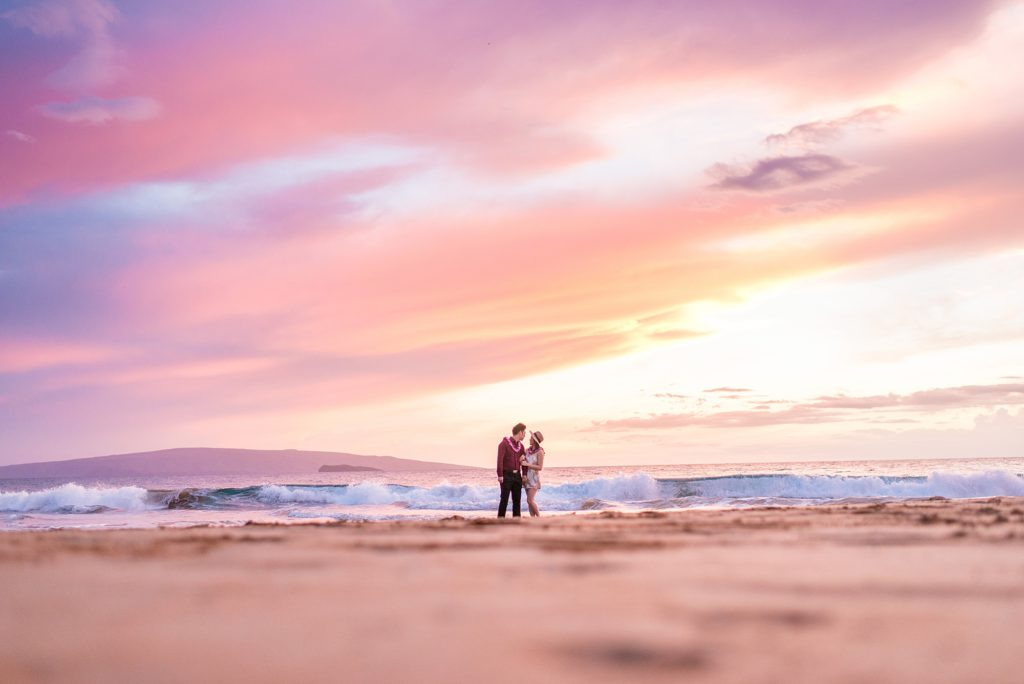 Pastel sunset at Maui beach