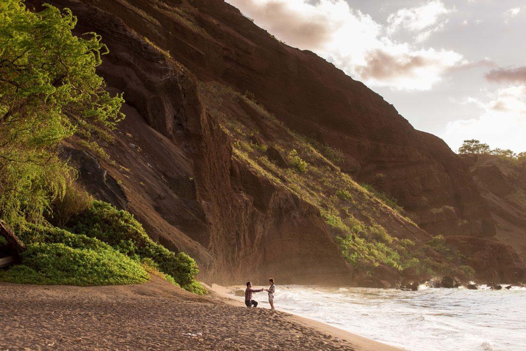Proposal at Black Sand Beach