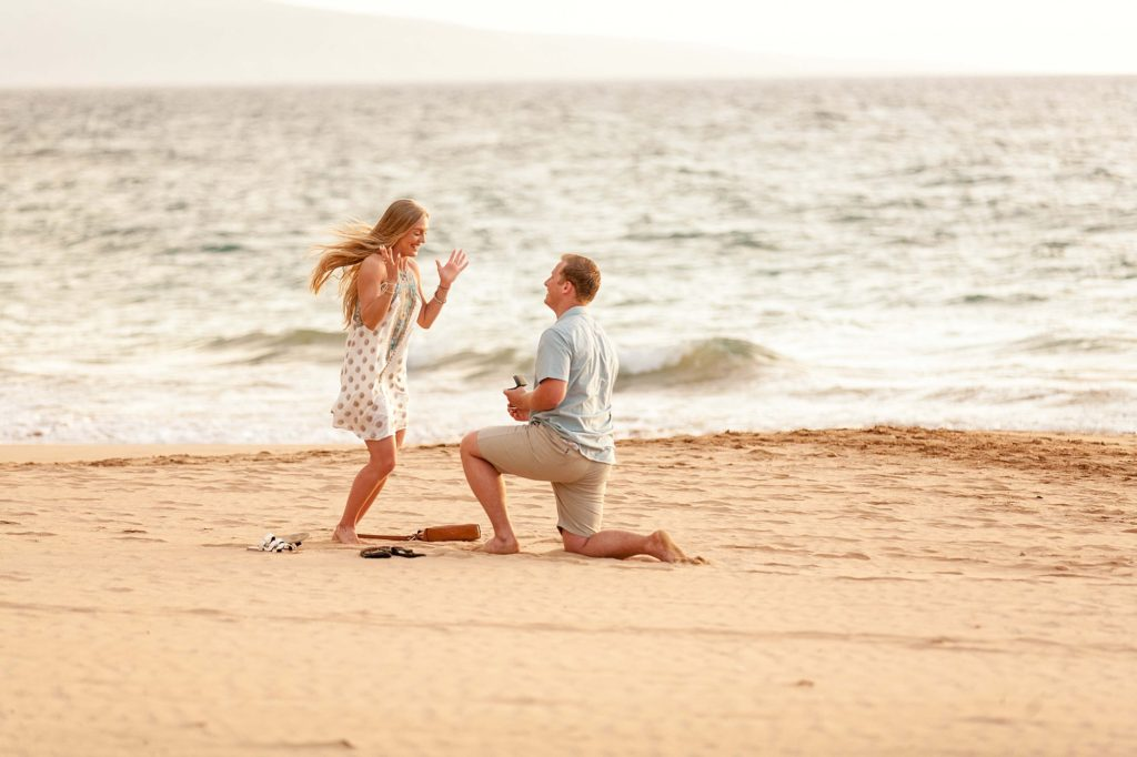 She said yes in Maui