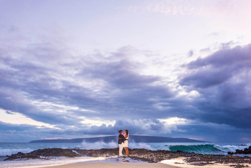 Romantic same sex Maui beach proposal