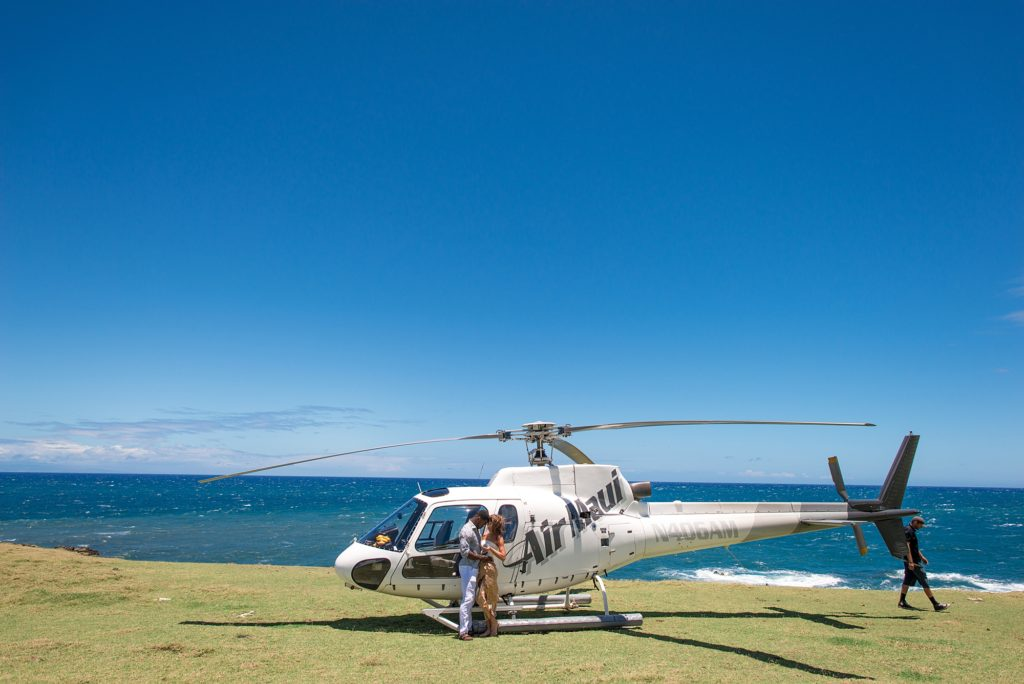 Helicopter proposal at private landing spot