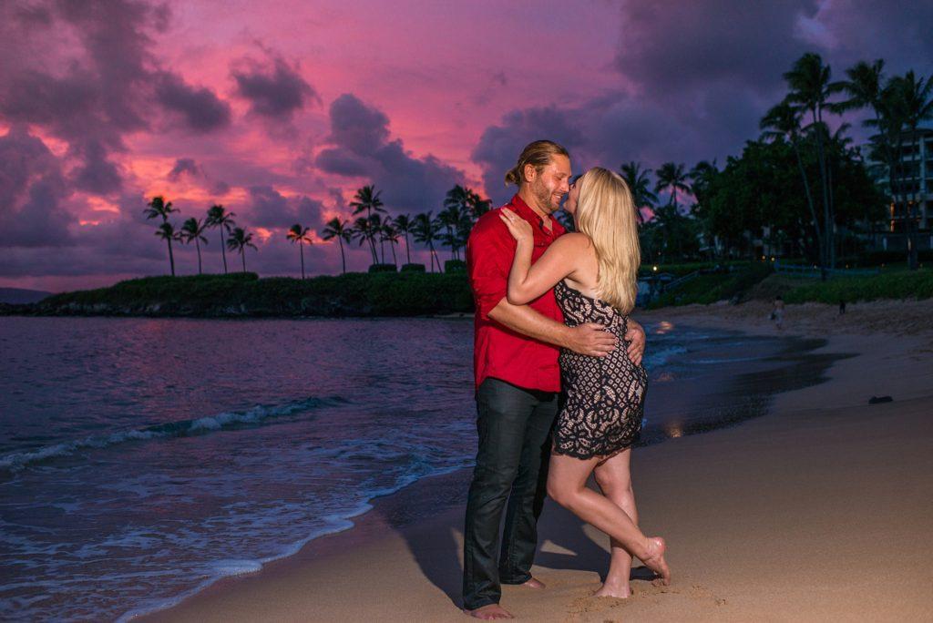 Beautiful Maui sunset proposal