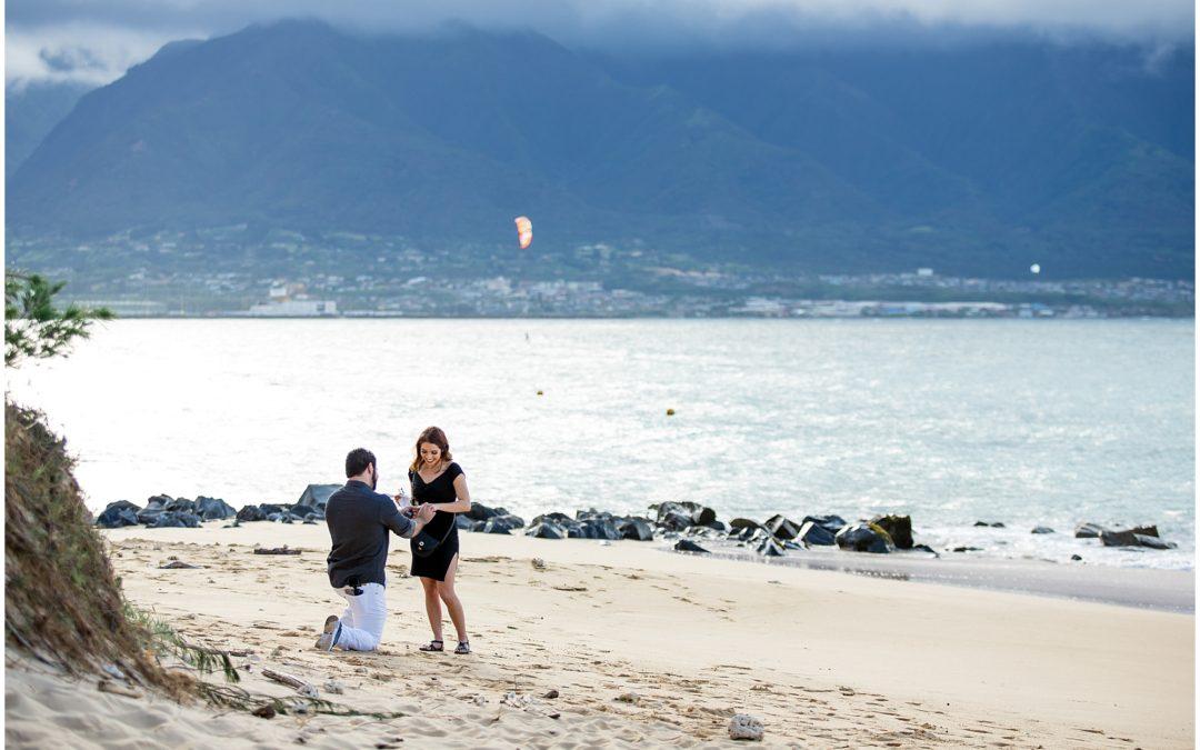 North Shore Beach Proposal with Mountain View | Matthew + Raven