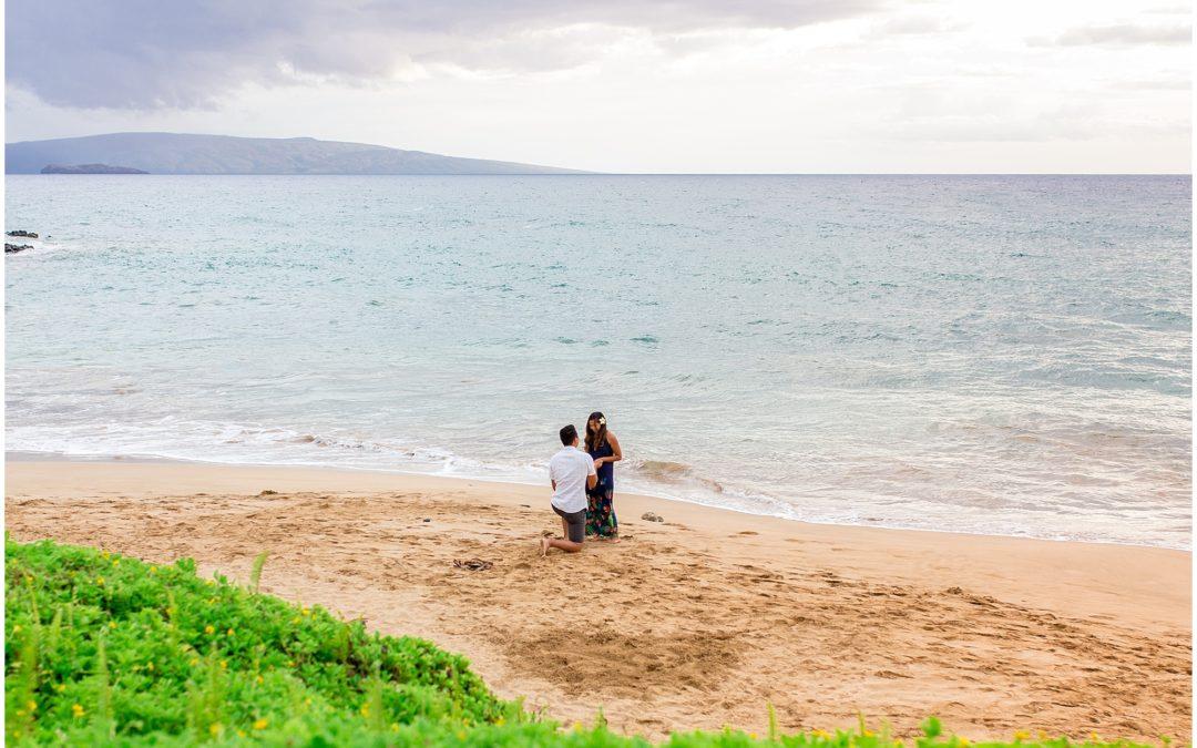 Personalized South Maui Beach Proposal | Dan + Camille