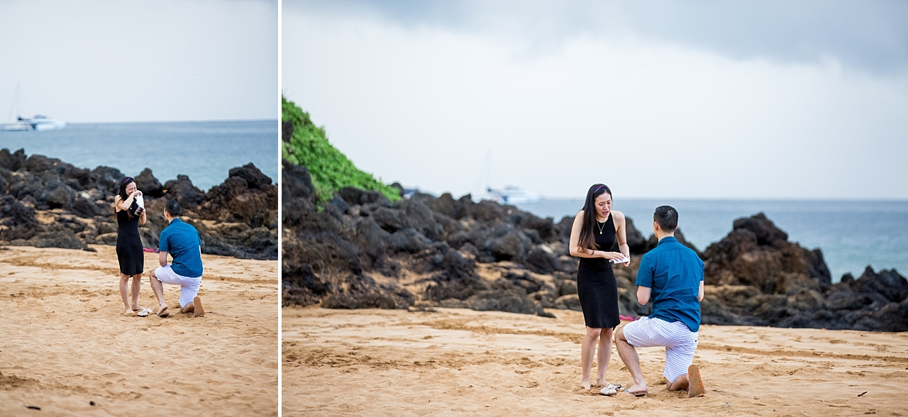 surprise beach proposal