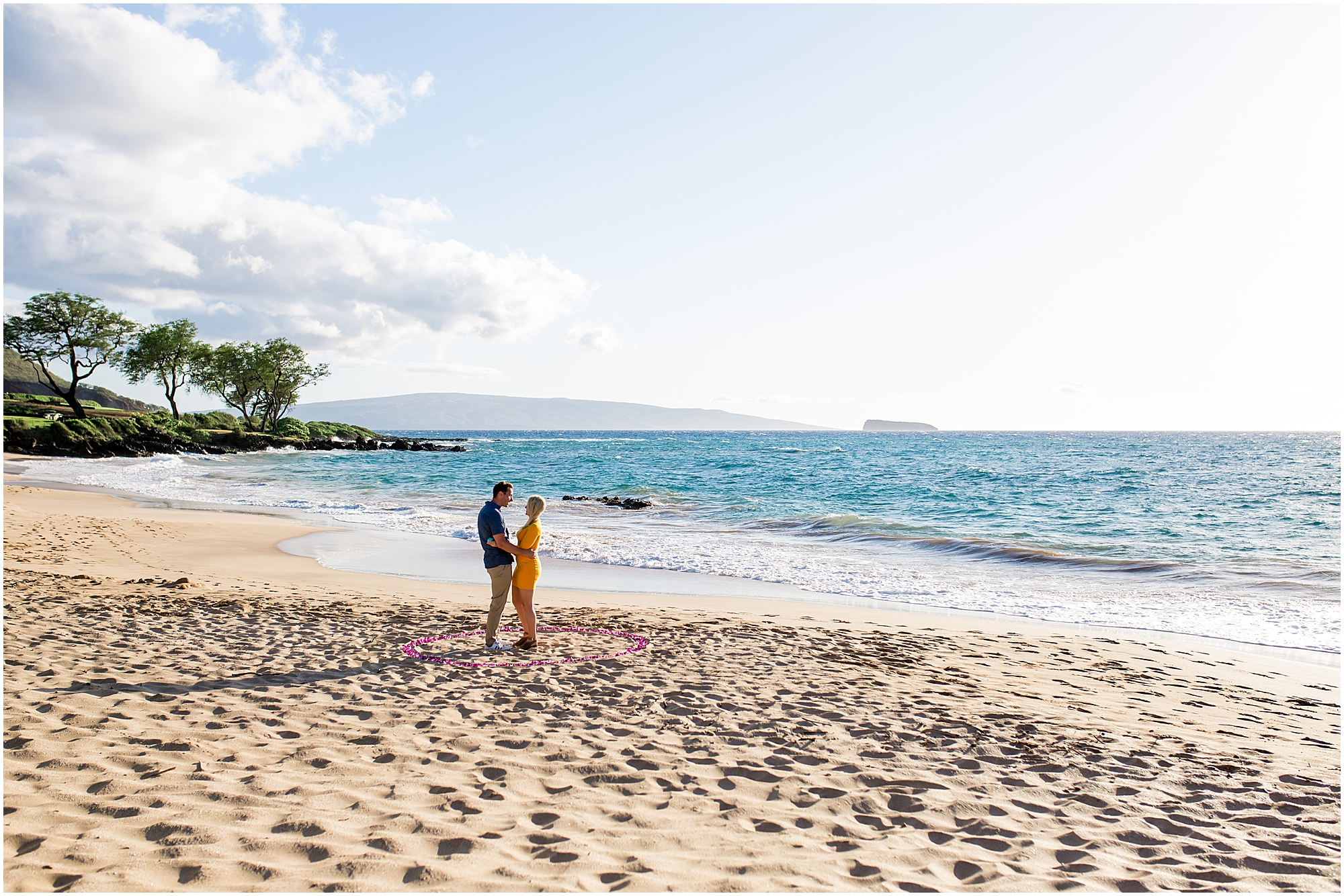 beach proposal in Maui, Hawaii