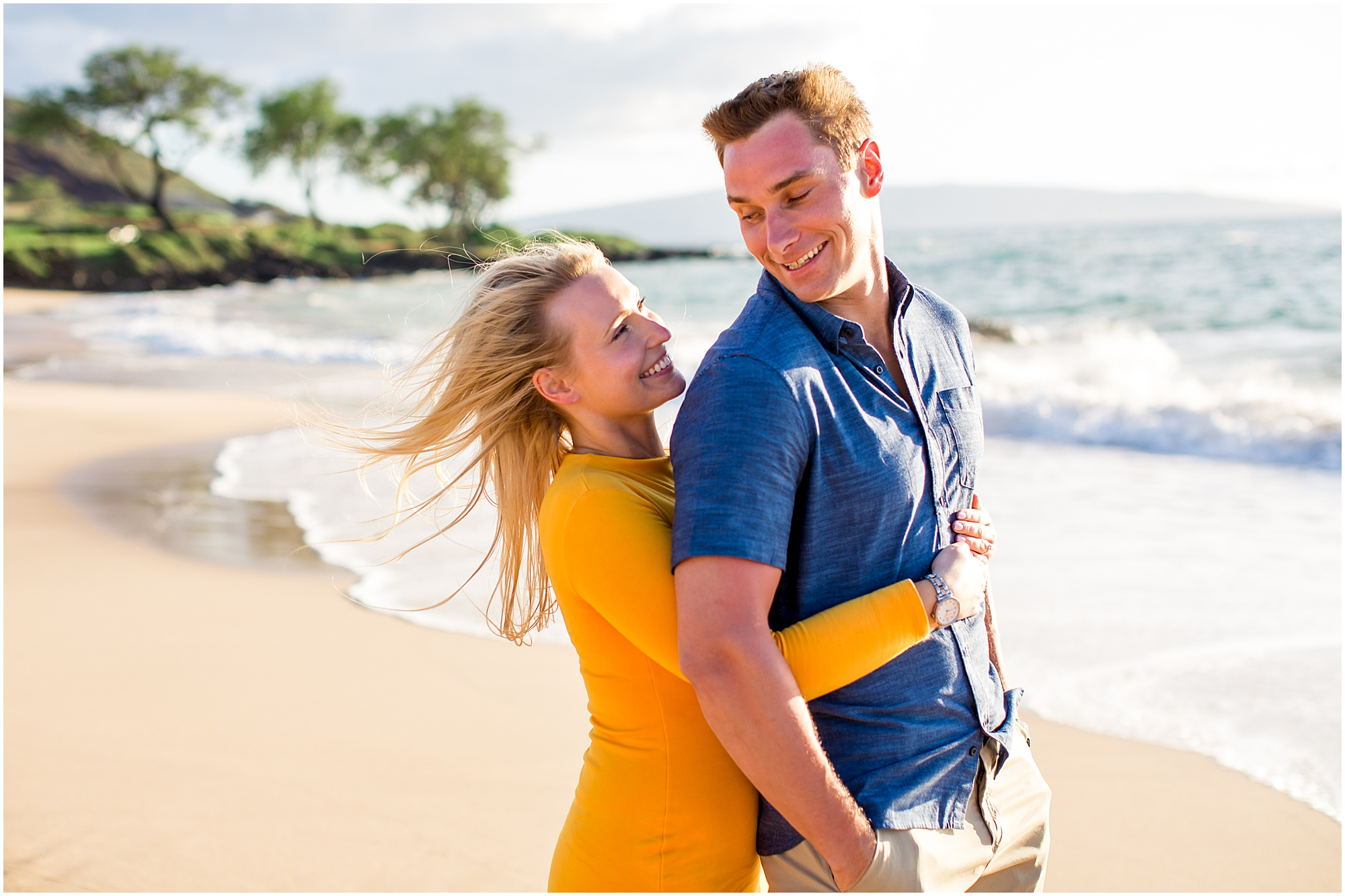 Maui engagement photography at the beach