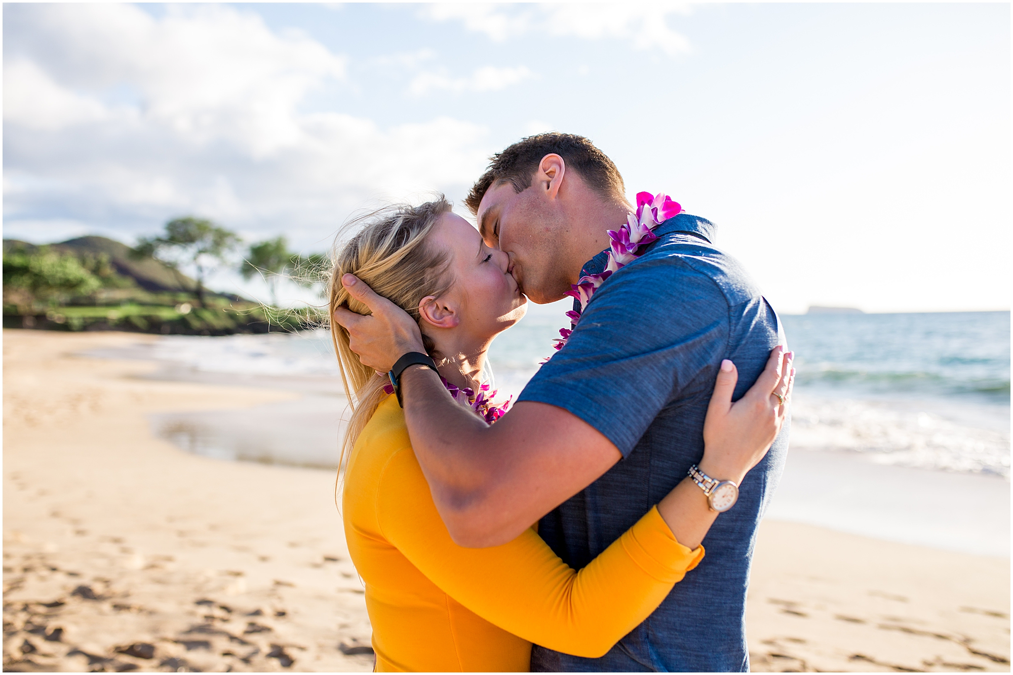 kiss after Maui proposal