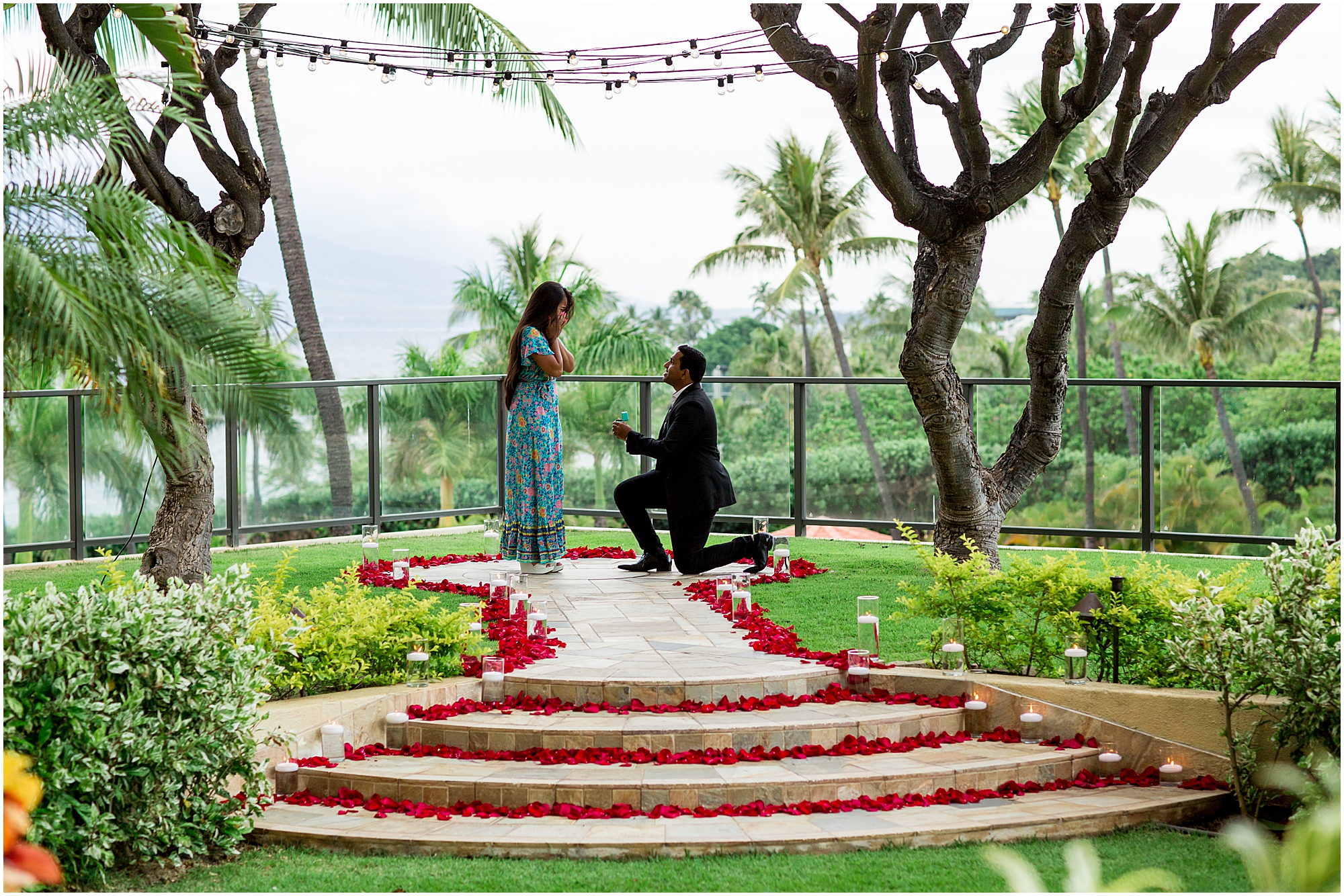 Romantic proposal at Four Seasons Maui