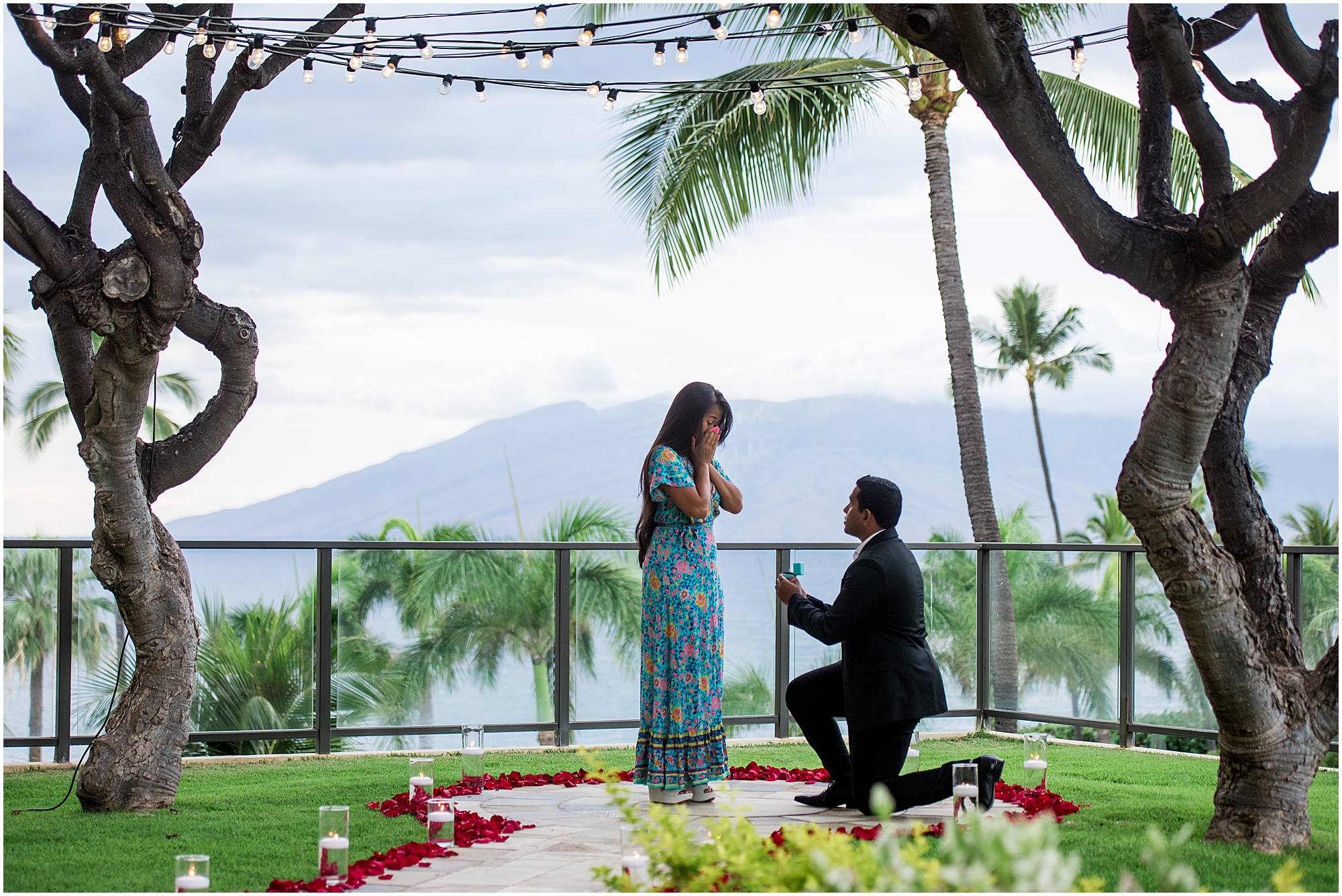 Private Maui proposal with ocean view