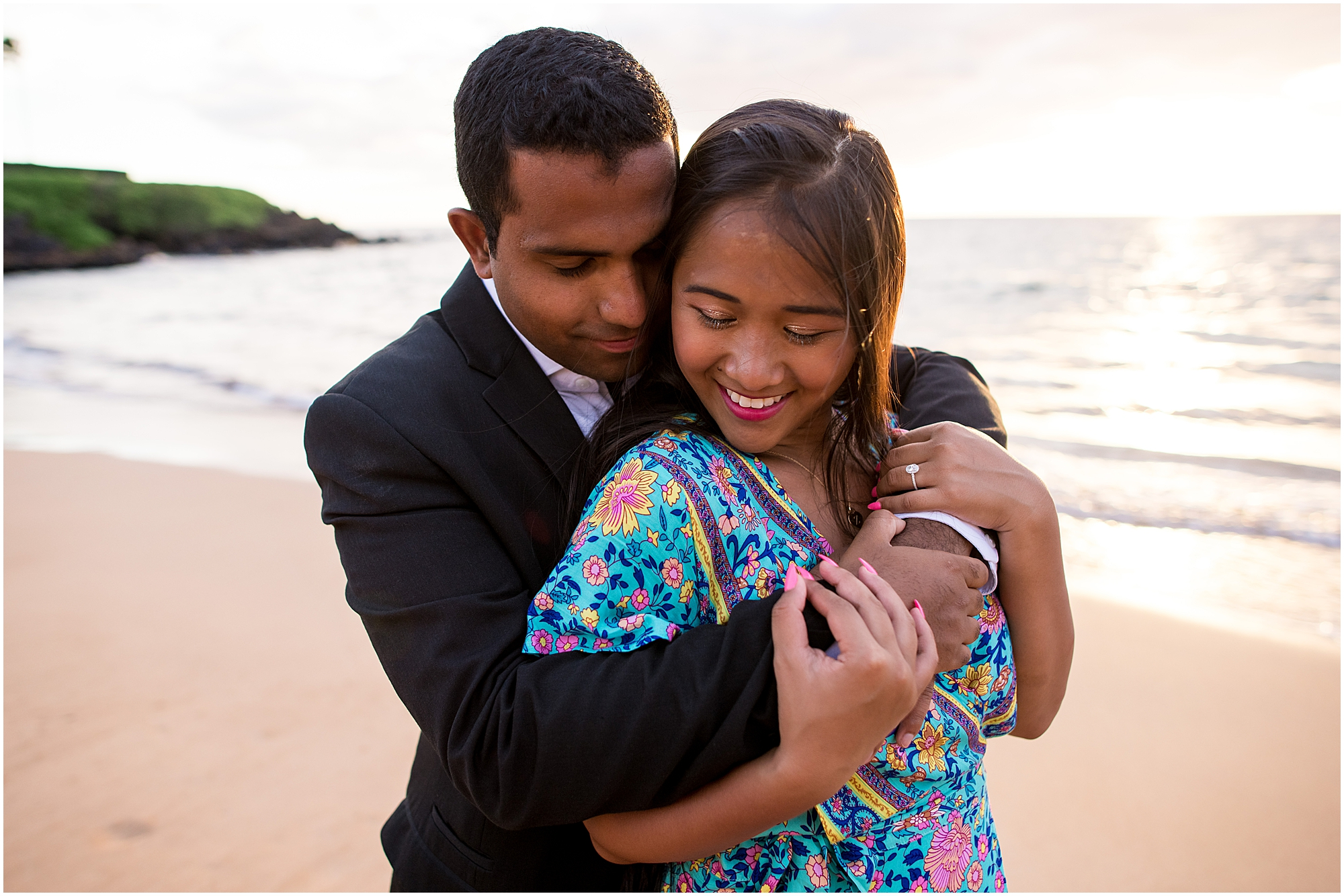 Engagement session on Wailea Beach