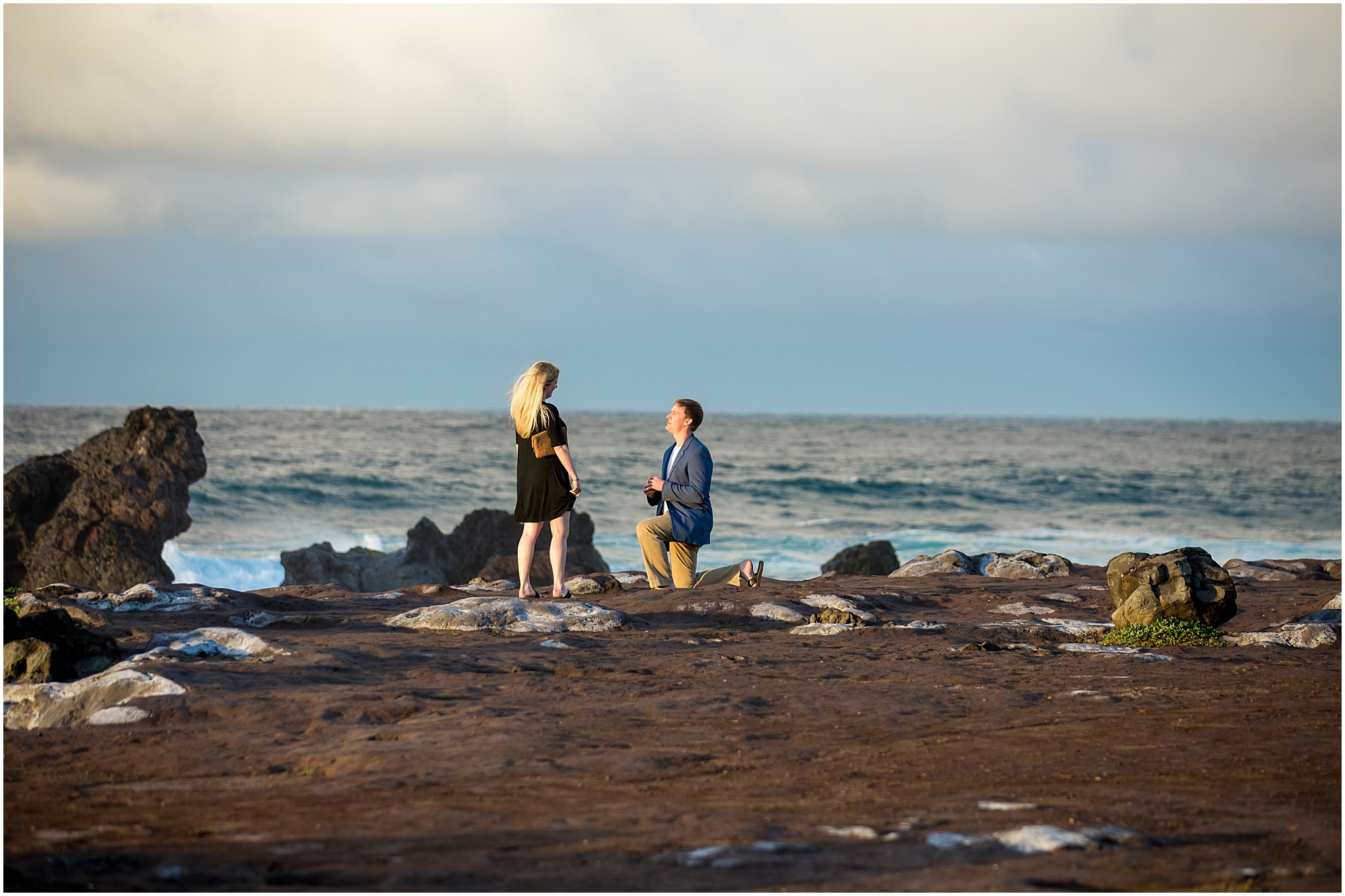 Maui oceanfront proposal on cliff