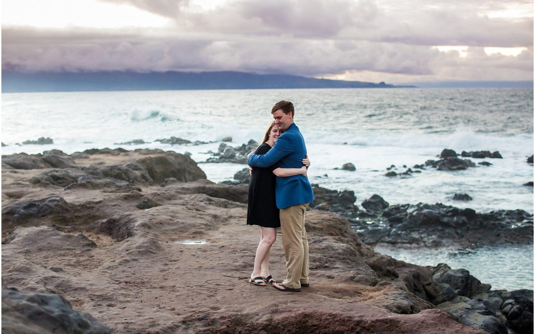 Sunset Cliff Proposal on Maui's North Shore | Michael + Erin