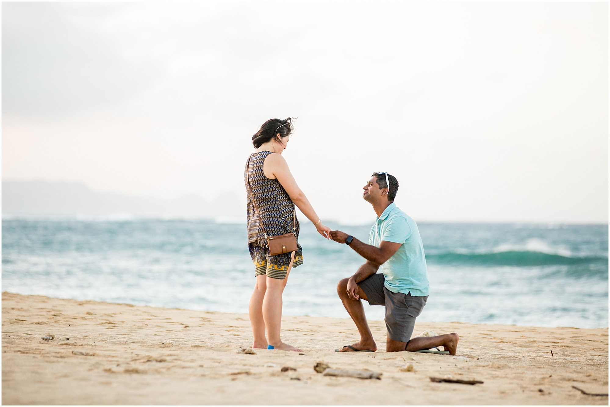 beach proposal on north shore, Maui
