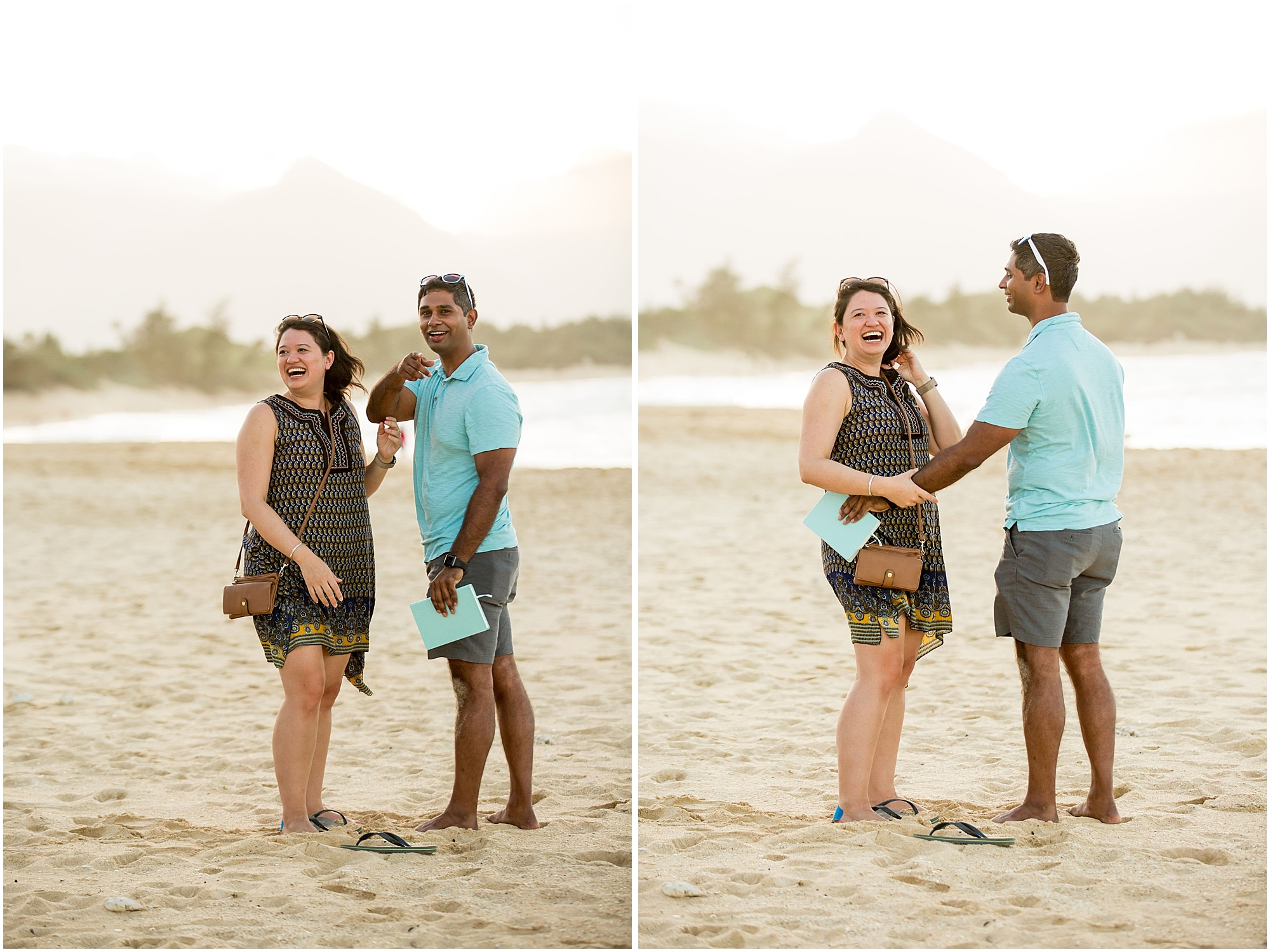 Brittney realizes that the beach library was set up for her proposal
