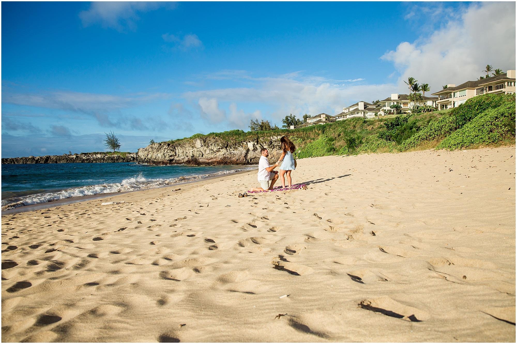 Beach proposal in Kapalua, Maui