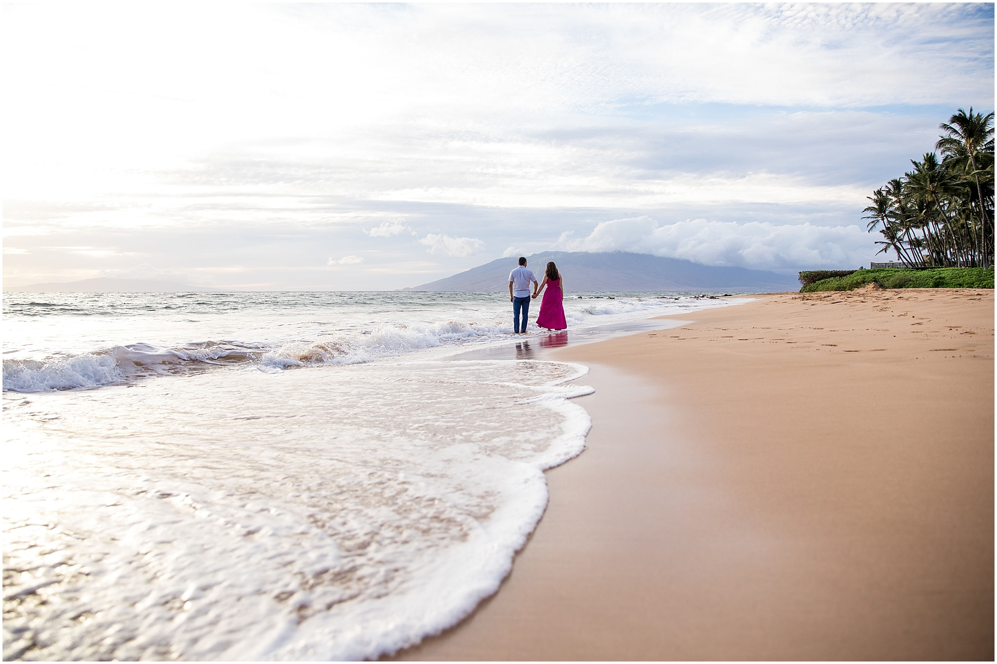 Maui beach proposal for a vow renewal